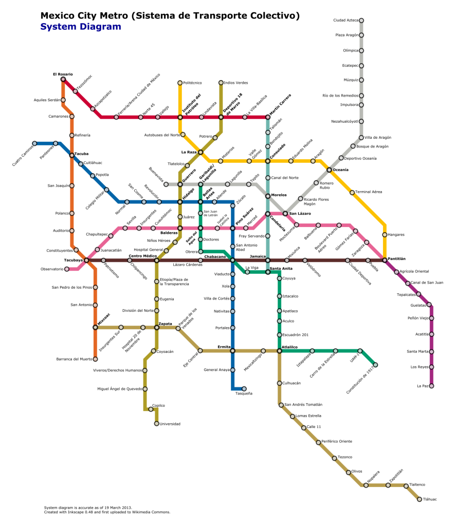 The Wrong Color Subway Map That Feels Just Right.A Beginner S Guide To Using The Mexico City Metro Northern Lauren